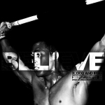 blood and iron fitness 315 motivation poster logo believe