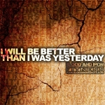blood and iron fitness 315 motivation poster logo better than yesterday