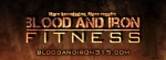 blood and iron fitness facebook cover photo in flames
