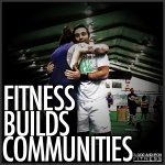 blood and iron fitness 315 motivation poster logo fitness builds communities