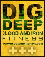 blood and iron fitness dig deep poster