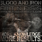 blood and iron fitness 315 motivation poster logo more