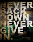 blood and iron fitness never back down poster alt