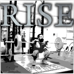 blood and iron fitness 315 motivation poster logo rise